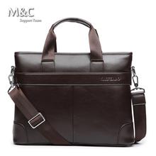 2016 Men Briefcase Business Shoulder Bags Leather Bag Handbag Men Messenger Bag Laptop Men's Travel Bags OB-007