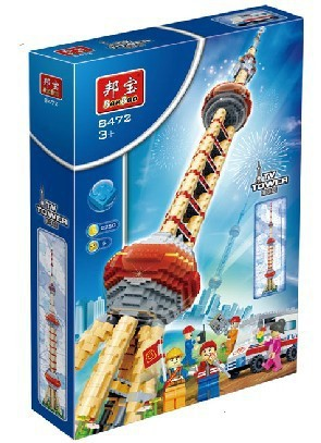building block set compatible with lego city the Oriental Pearl Tower 3D Construction Brick Educational Hobbies Toys for Kids<br><br>Aliexpress
