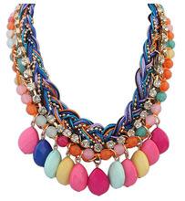 2016 Western Bohemian Ruili versatile multilayer drops big names necklace fashion jewelry wholesale 969(China (Mainland))