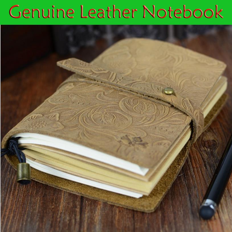 Newest Genuine Leather Design Traveler's Notebook Vintage European style Travel Journal Diary Handmade Gift 1497(China (Mainland))