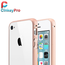 CinkeyPro Ultra Slim Bumper Cases Aluminum Metal Frame Mobile Phone Accessories Cover For Apple iPhone 4 4S Case