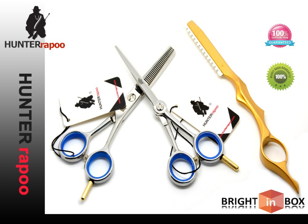 440C 5.0 inchINCH hair cutting shears sets barber supplied hairdress scissors kit (tesoura de cabeleireiro) - Hunterrapoo Flagship Store store