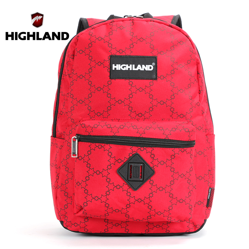 HIGHLAND School Bag For Teens Girls Boys High Quality Waterproof Nylon Unisex Backpack For Women 15.6 Inch Laptop Backpack Men(China (Mainland))