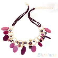 Women s Shell Jewelry Beads Handmade Choker Collar Statement Pendant Necklace 1MAL