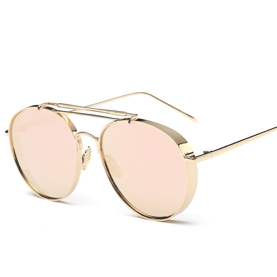 Brand New 2016 Mirror Lens Round Glasses Women Cyber Goggles Steampunk Sunglasses Vintage Retro For men oculos de sol feminino(China (Mainland))