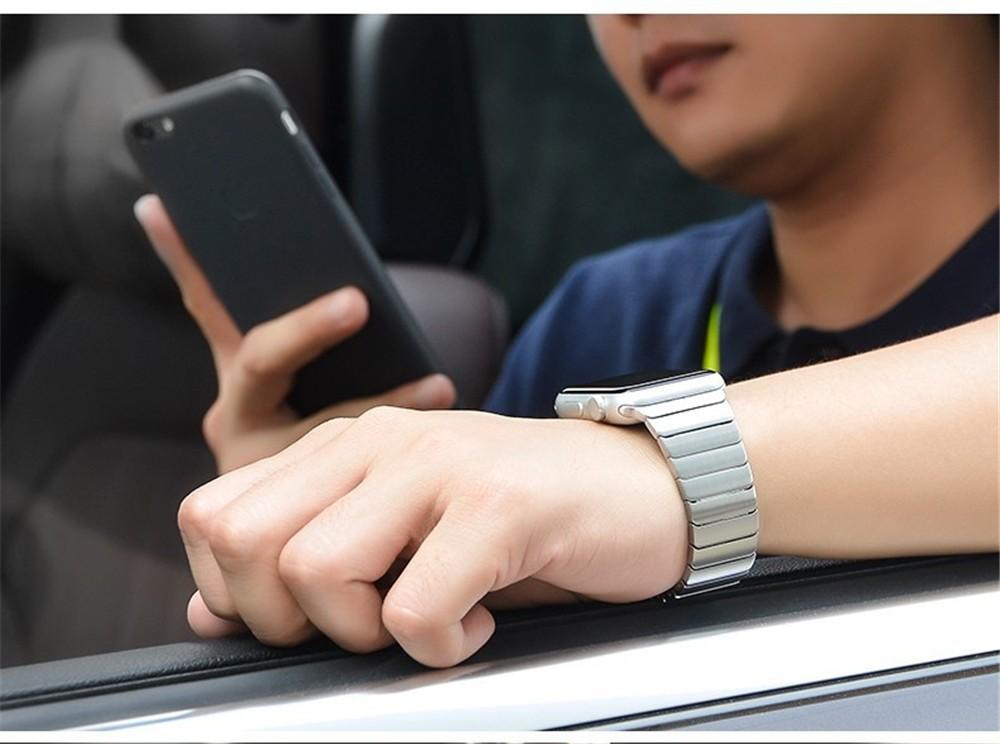 Высокое Качество Для НОСО Apple Часы Ссылка Браслет Группа 42 мм Золото Серебро Нержавеющая Сталь Ремешки Для Наручных Часов С Quick Release Function