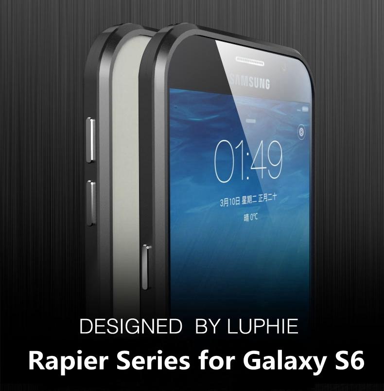 Original Luphie Diamonds Shine Series Metal Aluminum Bumper for Samsung Galaxy S6,Diamond Edge Design Metal Frame for Galaxy S6(China (Mainland))
