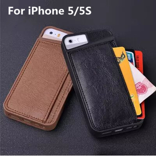 Luxury Fashion Phone Case iPhone 5 5S TPU Cover Card Holder Design Mobile Bags Covers Apple iPhone5 S - Sunshine Shopping Store store