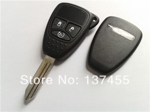 in stock free shipping keys for chrysler 3 buttons remote key blank chrysler car key cover fob(China (Mainland))