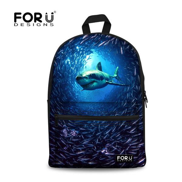 Big Sale 2015 supreme mens laptop backpack 3D animal printing women leopard shark backpack herschel kids student school bag<br><br>Aliexpress