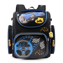 Brand Children School Bags for Boys Orthopedic Backpack Cartoon Cars or planes Schoolbag Kids Satchel Mochila Infantil Grade 1-5(China (Mainland))