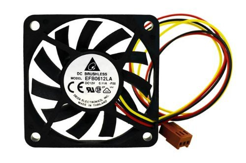 Free Shipping Delta EFB0612LA 60x60x10 MM 3Wire 60mm 6cm DC 12V 13.5CFM server inverter axial cooler cooling Fans(China (Mainland))