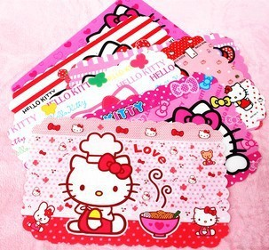 1pcs Dining Table accessories Hello Kitty plastic PP eat mat waterproof and oil kitty Insulation pad table mat(China (Mainland))