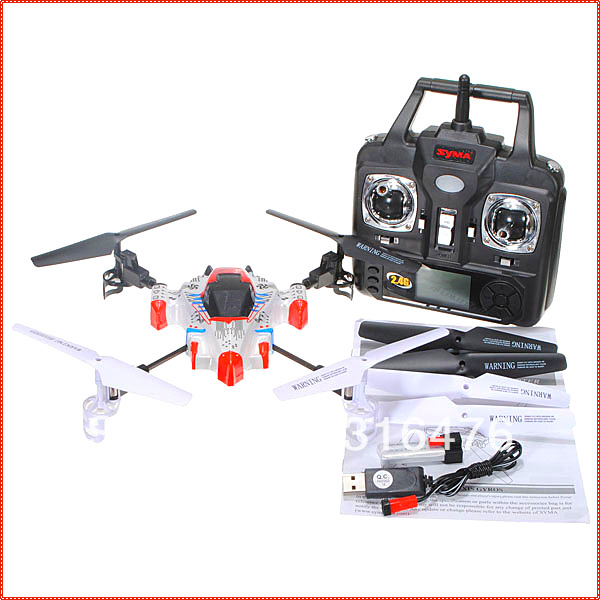 Newest SYMA X1 UFO 4CH 2.4G 4-axis 360 Degree Eversion 3D LCD RC Aircraft Quadcopter Quad Xcopter Gyro Helicopter Free Shipping(China (Mainland))