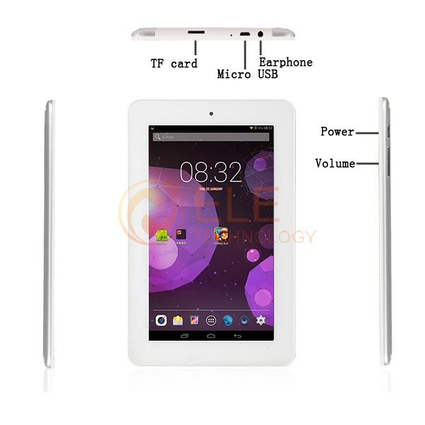 7 inch IPS AllWinner A31S Quad Core Android 4.4.2 1GB RAM 16GB ROM android tablet pc Camera 1024*600 Capacitive screen(China (Mainland))