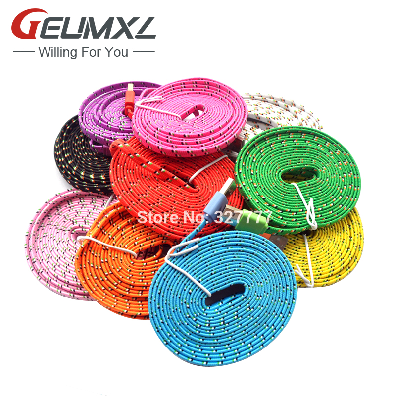 1M/2M/3M 8Pin USB Adapter Charger Fabric Braided Nylon Woven Data Sync Charging Cable iPhone 6 6S 6Plus 5/5C/5S iPad Air SE - Dianjin Team-- store