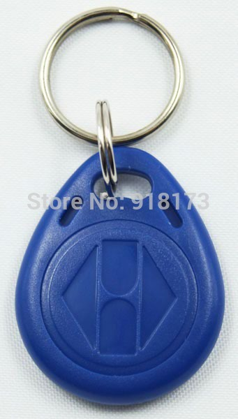 100pcs/lot 125Khz RFID Proximity tag Keyfob token Access Control Rfid key fob Blue yellow red(China (Mainland))