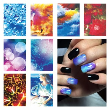 Water Transfer Nail Art Stickers Decals For Nail Tips Decoration DIY Fashion Nail Art Accessories