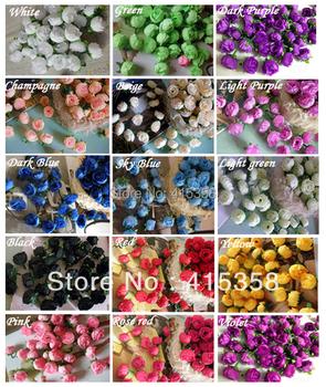 100pcs 1.2'' Artificial Flowers Silk Rose Heads Flower DIY Home Party  Wedding Decorative Simulation flowers Wholesale