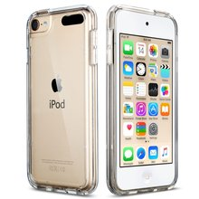 Case For iPod Touch 5/iPod Touch 6 Soft TPU PC Back Hybrid Phone Cases Covers Shockproof Anti-scratch -Clear Slim(China (Mainland))