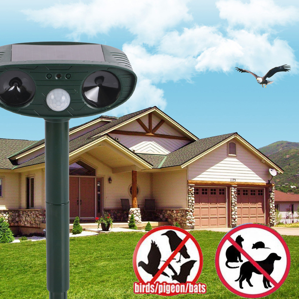 Ultrasonic Dog Repeller Solar Cat Repeller Dog Chaser Garden Fox Deterrent Animal Scarer Deterrent Repellent(China (Mainland))