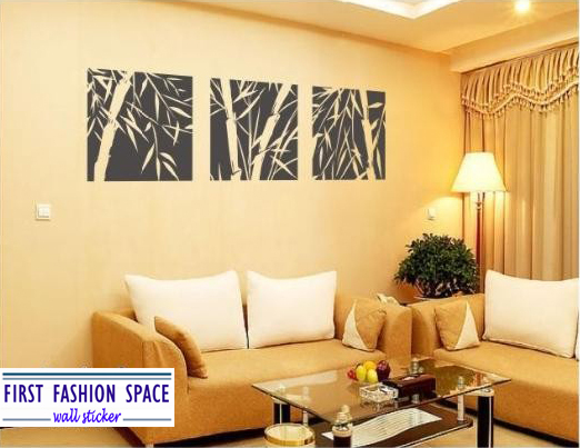 Free Shipping First Fashion Space Bamboo Mural Home Decor Decals Decorative Removable Craft Wall Stickers Fashion(China (Mainland))