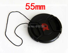 Free shipping 55mm center pinch Snap-on cap cover LOGO for sony 55 mm Lens