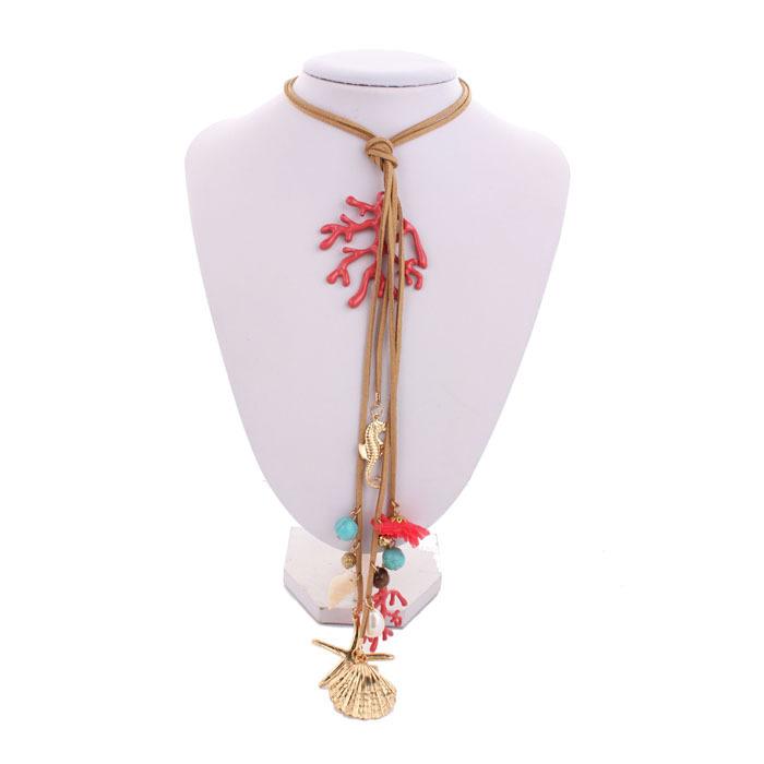 Maxi cuello collar elegante de boho charm Starfish Shell Sea World granos cristalinos collar Vintage mujer