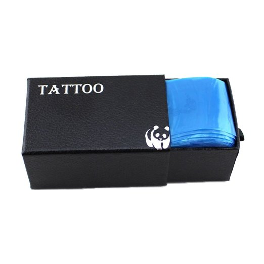 Pro 100pcs Medical Blue Plastic Tattoo Machine Clip Cord Sleeves Covers Bags<br><br>Aliexpress