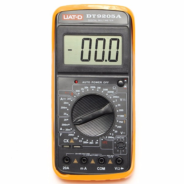 New Arrival DT9205A Digital Multimeter Voltmeter Ohmmeter AC/DC Ammeter Capacitance Tester Free Shipping(China (Mainland))