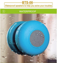 1pcs Mini Portable Waterproof Wireless Bluetooth Speaker For SHOWER POOL Handsfree Receive Music Suction Phone Mic with package(China (Mainland))