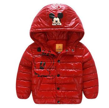 2015 Winter Children windproof snowsuit outerwear baby boys/girls warm parkas down coat kids cartoon hooded jackets for 2-7 ages