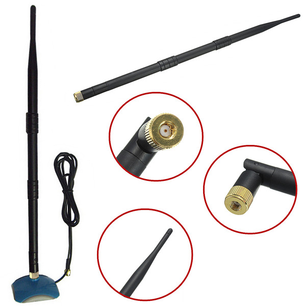 Popular 2.4GHz 10dbi WiFi Wireless Antenna Booster For Modem Router RP-SMA New Communication Equipment(China (Mainland))
