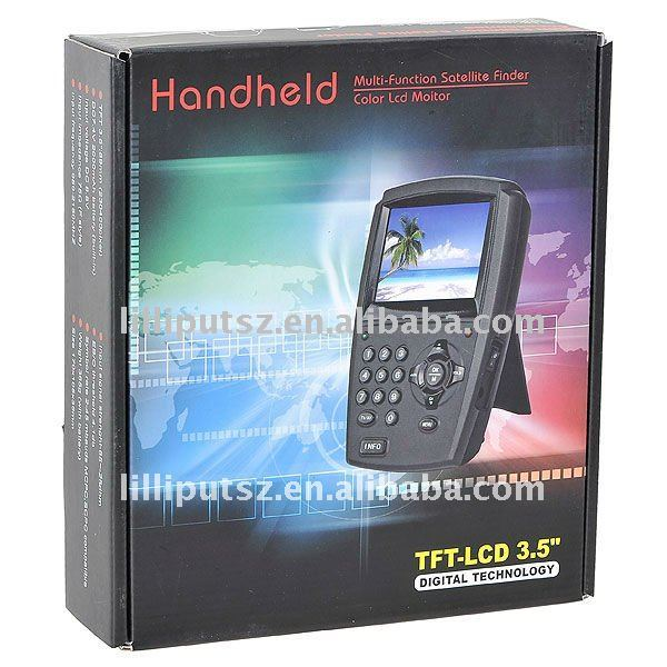 "High Quality 3.5"" TFT LCD Handheld Digital Satellite Signal Finder Meter Direc TV Dish FTA LNB Sat(China (Mainland))"