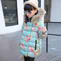 New Arrival Florals Girls Winter Cotton Coats 2016 Children Cotton padded Clothes Toddler Warm Jackets Baby