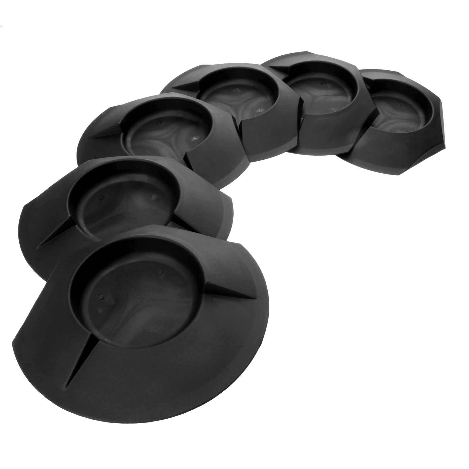 6Pcs Plastic Black Golf Putting Green Cup Home Backyard Training Aids Practice Accessories Golf Hole Putting Cups Indoor/Outdoor