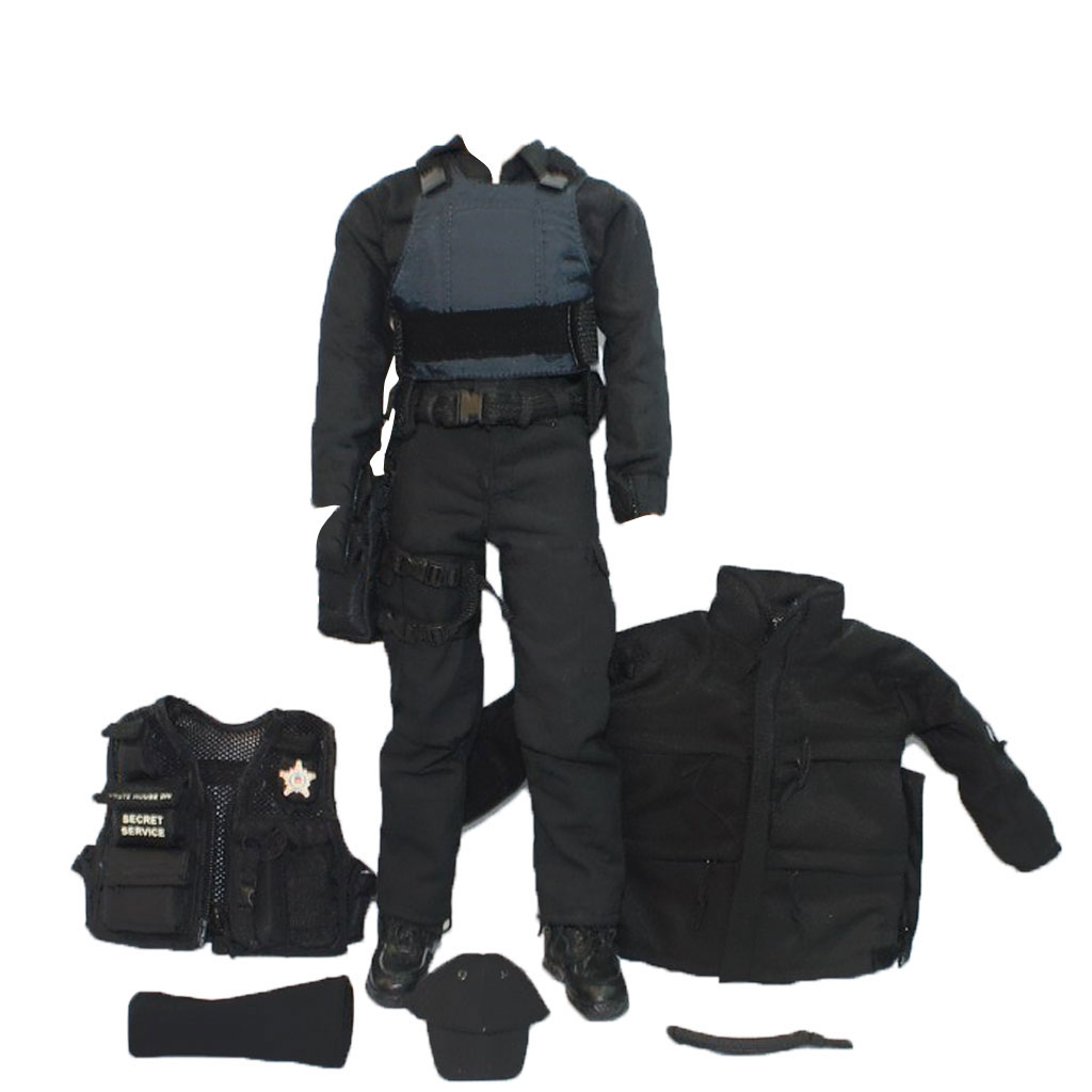 Whole Set of 1/6 SWAT Police Uniform Accessories 12' Action Figures Military Doll Clothes Cloth Collection for Audlts Kid Gift(China (Mainland))