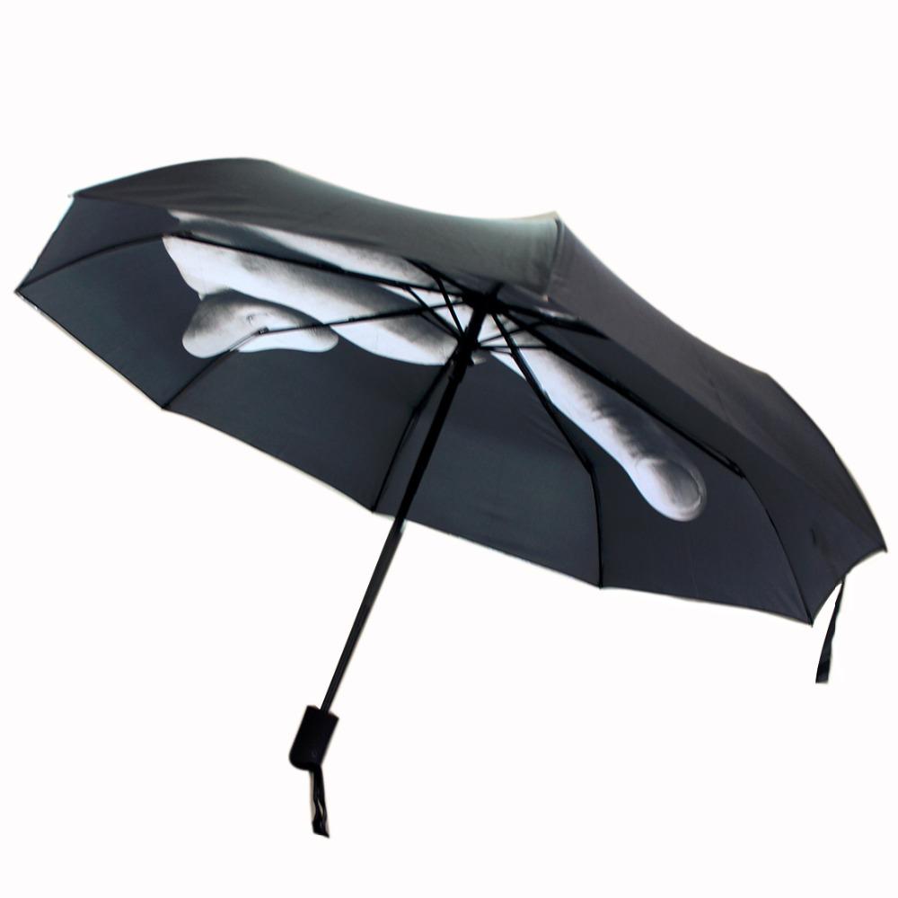 2016 New Novelty Middle Finger Design Black Umbrella Cool Fashion Impact Umbrella 3 Fold(China (Mainland))
