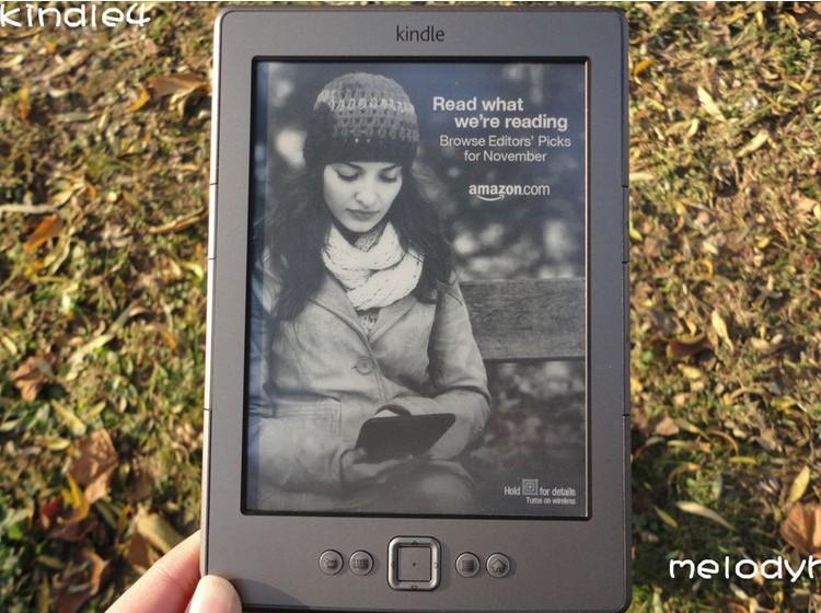 Original Kindle 4 Kindle eBook e-ink Screen WIFI 2G Electronic Paper Book Plus Kindle4 Original Free shipping(China (Mainland))