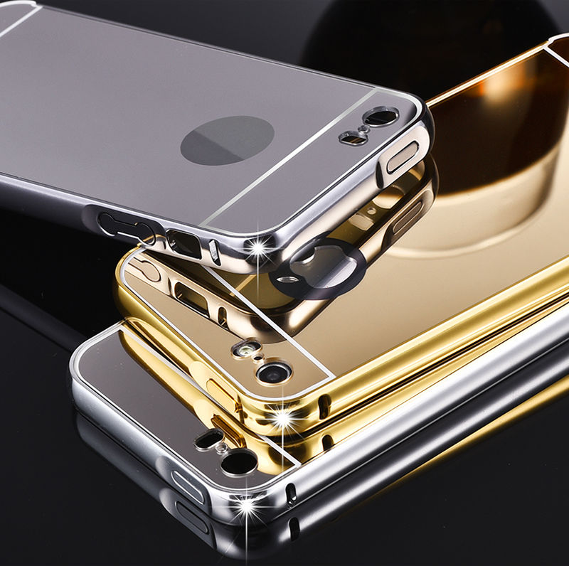 5S Mirror Aluminum Case for iPhone 5 5G 5S apple HOT Fashion Gold Silver Aluminum Acrylic Mobile Phone Cases Cover for iPhone5 s(China (Mainland))