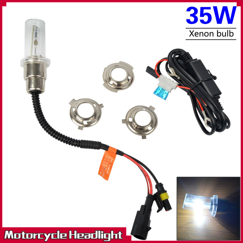 Taitian 35W Motorcycles HID Xenon Headlight Conversion KIT H1 H4 H7 H6 H6M Bixenon Hi/Lo for electric scooter(China (Mainland))