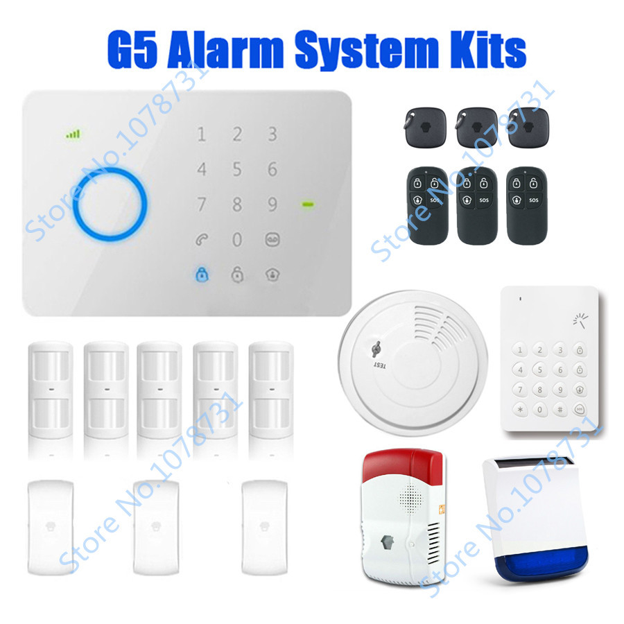 DHL Free Shipping Chuango G5 Brand Touch Keypad GSM SMS Wireless Home Security Burglar Alarm System RFID Access Control 315mhz(China (Mainland))