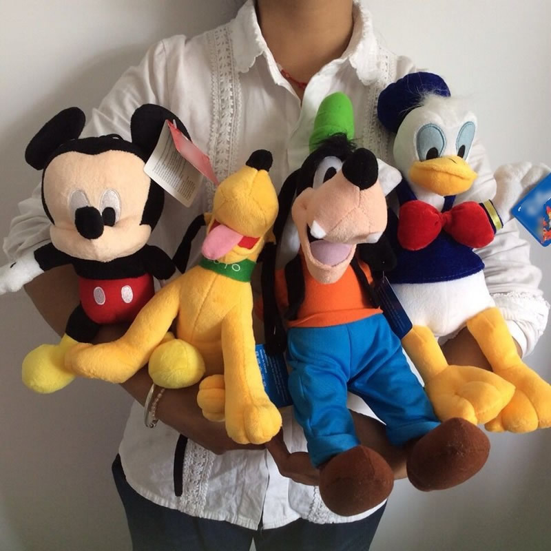 Free shipping 4pcs Mickey mouse,Donald duck,GOOFy dog,Pluto dog peluches plush soft toys,best juguetes gift for kids&son(China (Mainland))