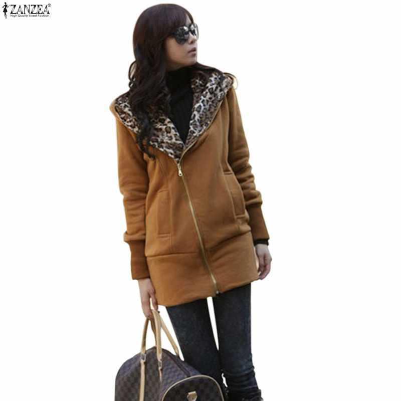2014 Top Selling Fashion Autumn &amp; Winter Hot Zanzea Brand Women Leopard Warm Jacket Zipper Hooded Sweatshirts Outerwear 3 ColorОдежда и ак�е��уары<br><br><br>Aliexpress
