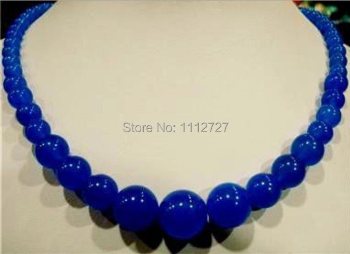 Natural 6-14mm Blue Sapphire Jasper Necklace 18'' AAA beads jewelry Natural stone Wholesale Price(China (Mainland))