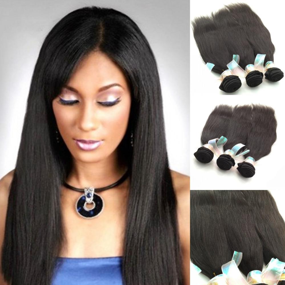 Grade 6A Brazilian Yaki hair 3pcs lot Yaki Straight Hair Unprocessed Natural black color Light Yaki Hair Weaving<br><br>Aliexpress