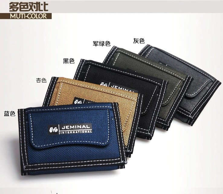 New Fashion brand Men's Stylish Business canvas wallet short style men Casual Purse male money Clips three-fold male wallet(China (Mainland))