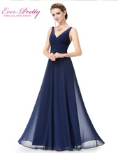 Evening Dresses Long Women Gown Vestidos Ever Pretty EP08877 2016 New Arrival V-Neck Summer Style Evening Dresses(China (Mainland))