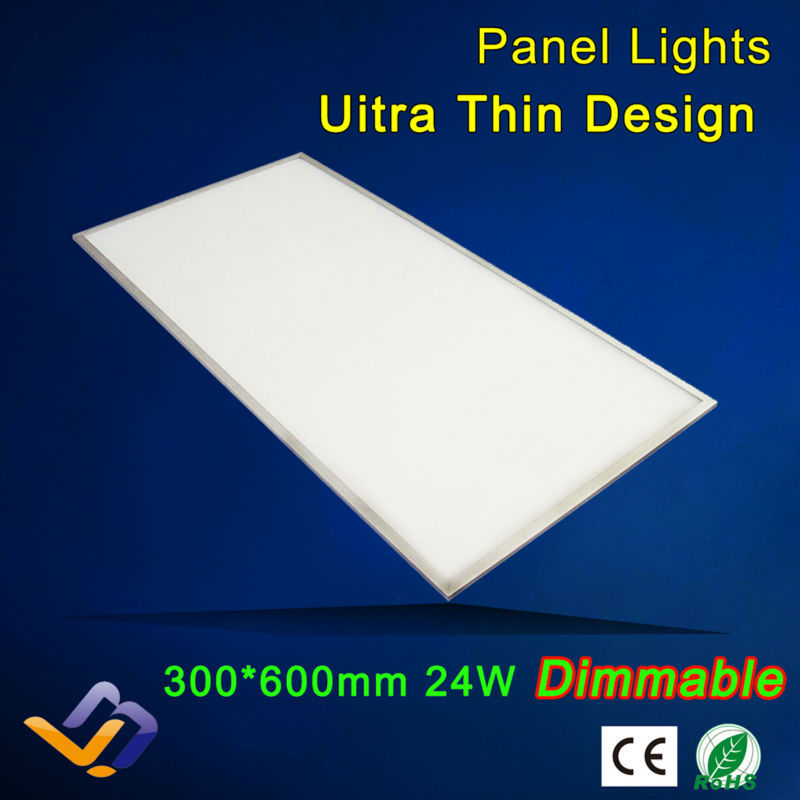 Led panel lights,dimmable panel, 24w 300x600,85-265V AC, integrated ceiling light led panel light led lighting ,3years warrantly(China (Mainland))