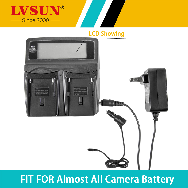 LVSUN DC & Car Universal Camera Battery Charger for Rechargeable Camera Battery For Nikon EN-EL9a D40 D40X D60 D3000 D5000(China (Mainland))